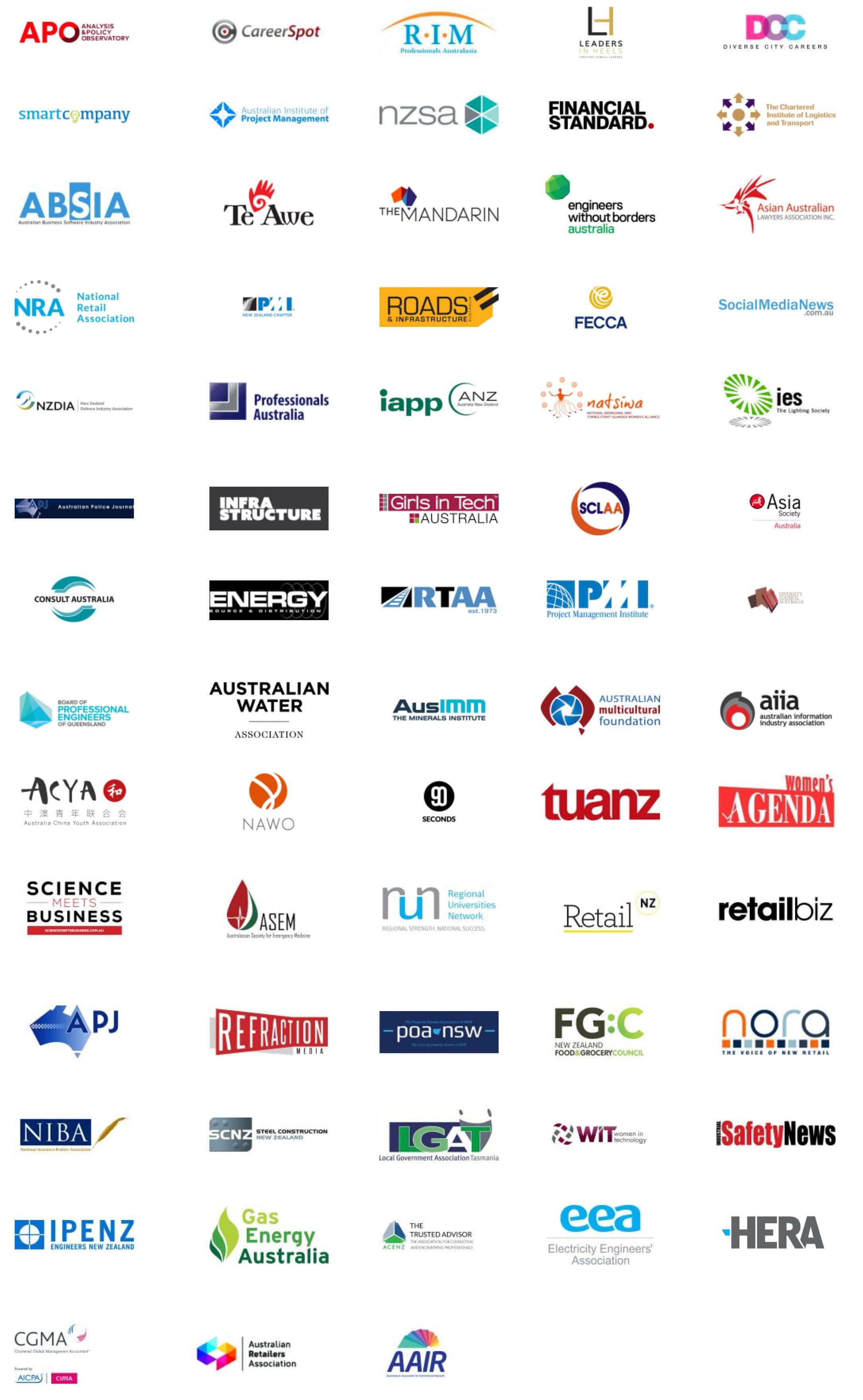 Many partner logos