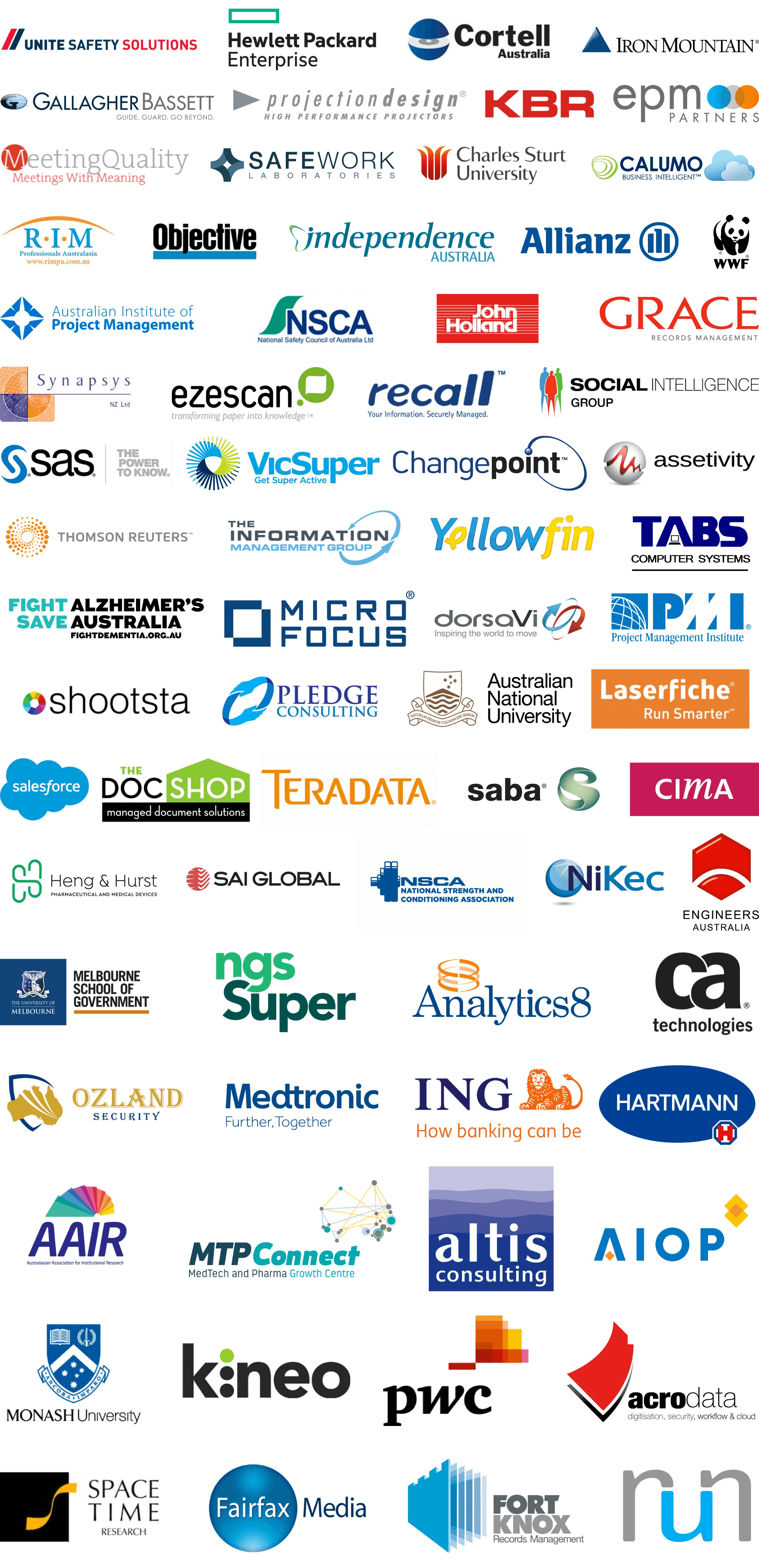 Many sponsor logos